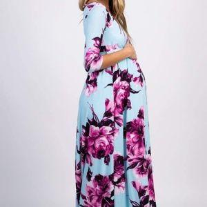 Pinkblush maternity maxi wrap dress